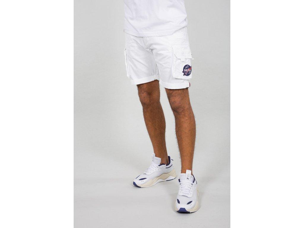 Alpha Industries NASA Short White pánske šortky