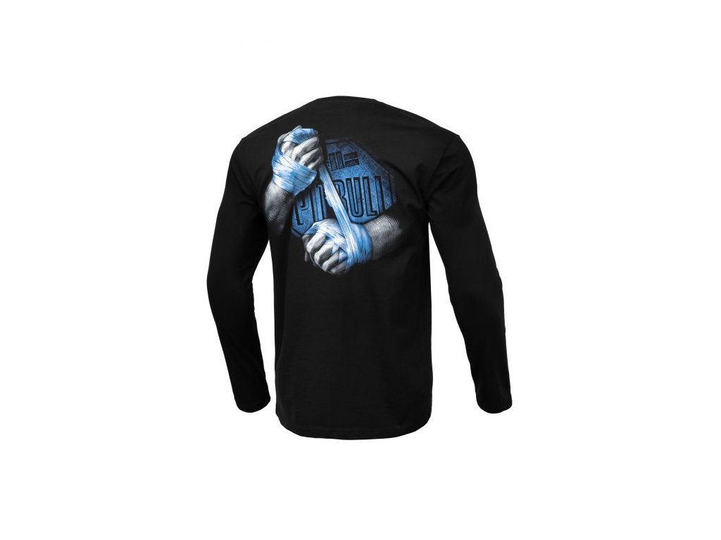 PitBull West Coast VALE TUDO black tričko pánske s dlhým rukávom