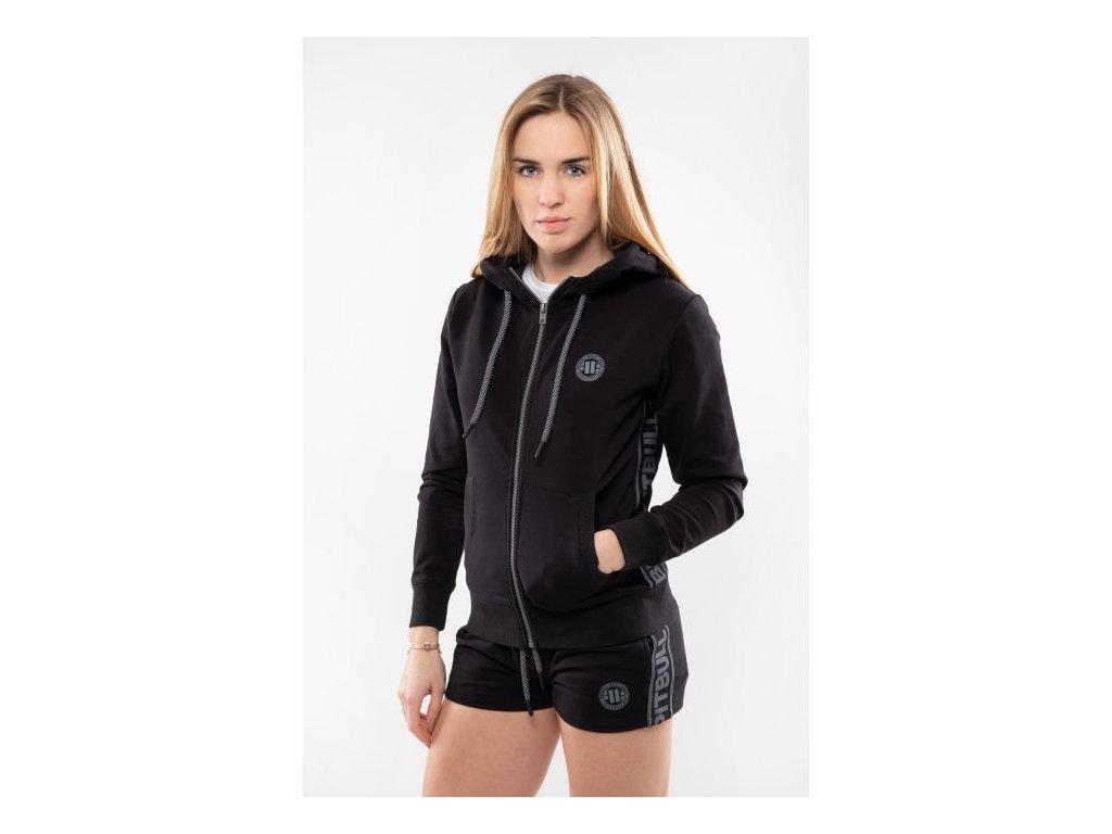 Pitbull West Coast dámske šortky FRENCH TERRY Small Logo black