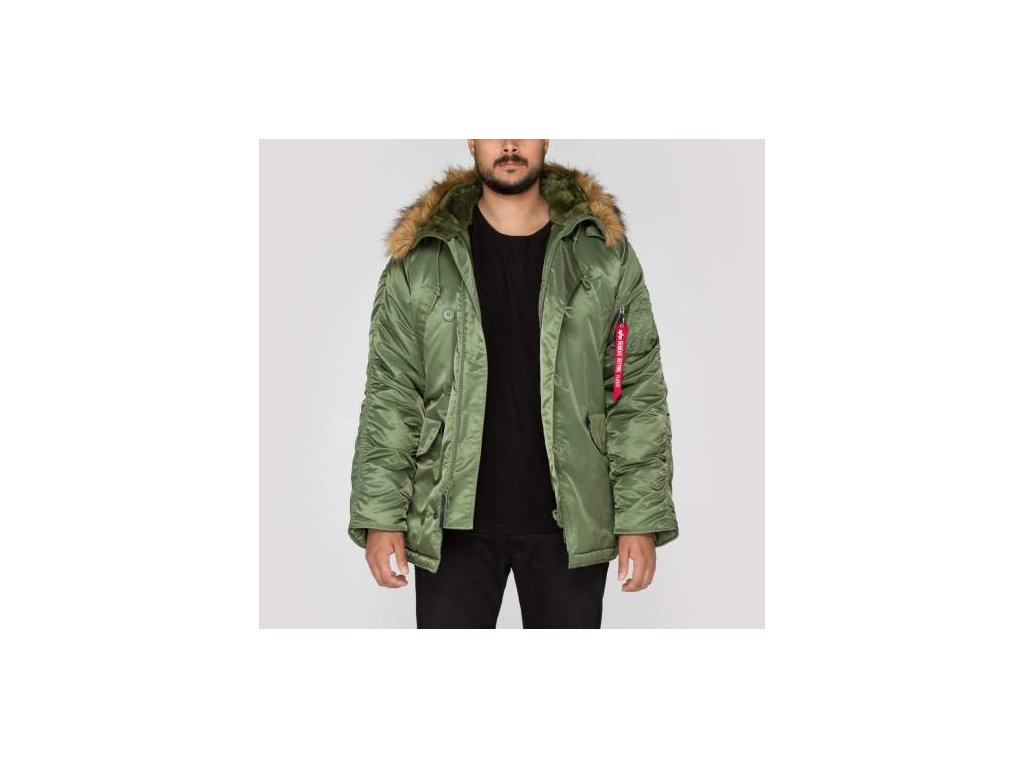 Alpha Industries N3B zimná bunda sage green
