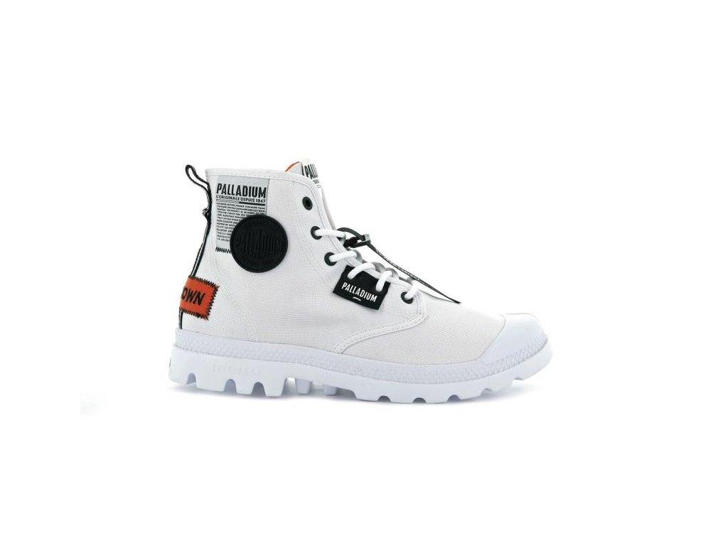Palladium módne topánky PAMPA LITE OVERLAB WHITE
