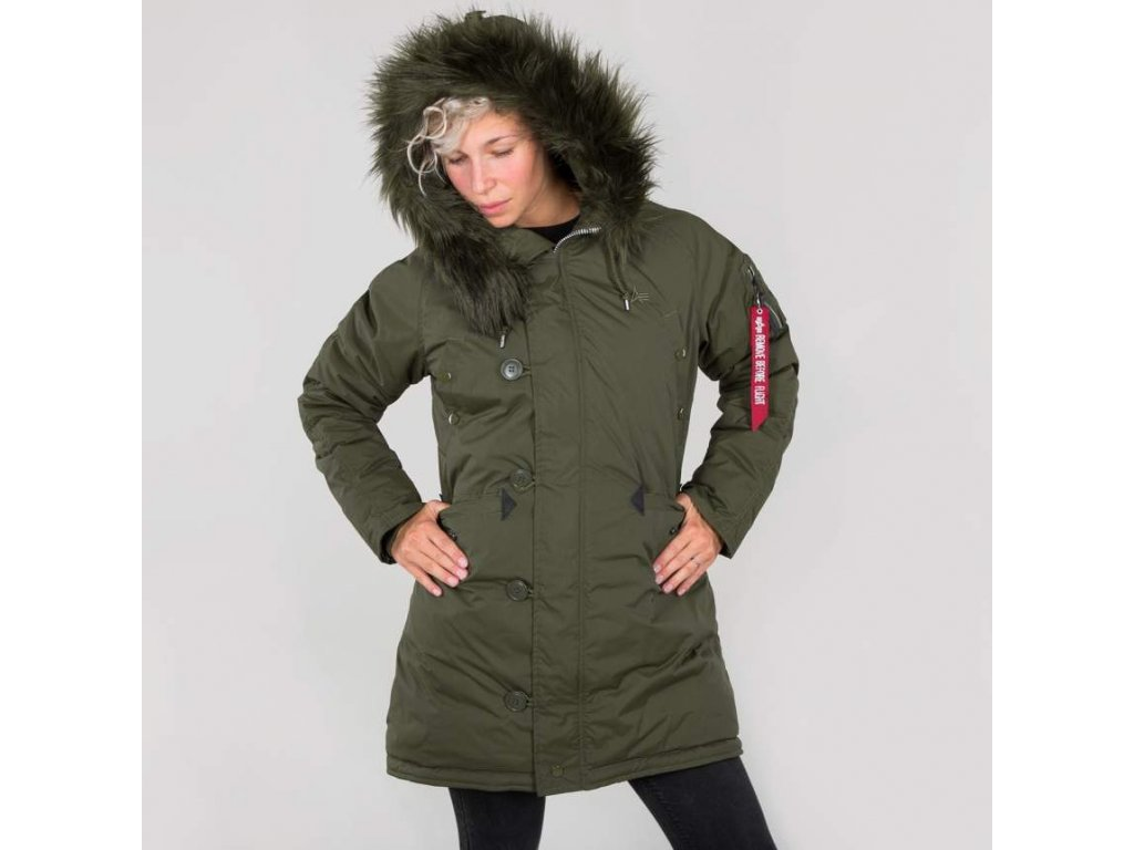 Alpha Industries N3B VF 59 BN Wmn dámska zimná dark green