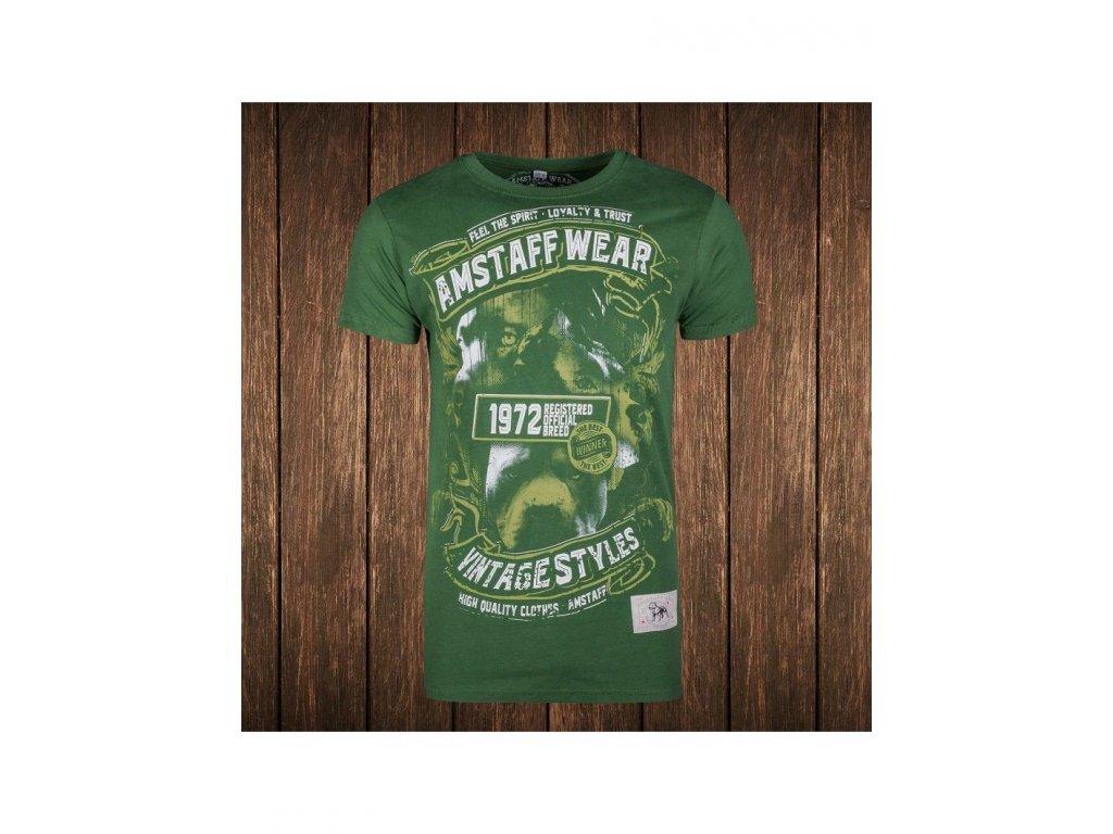 Amstaff tričko VINTAGE ISANTO green Slim