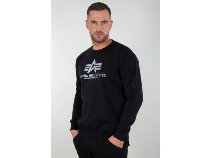 Alpha Industries Basic Sweater Reflective Print black d