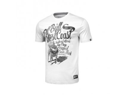 PitBull West Coast DOGGY white tričko pánske