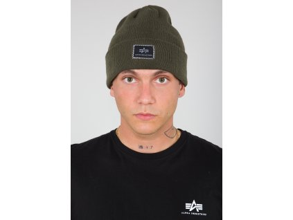 Alpha Industries X Fit Beanie čiapka dark green