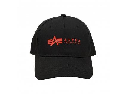 Alpha Industries ALPHA Cap šiltovka black red
