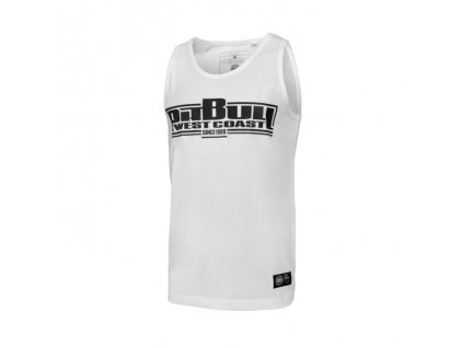PitBull West Coast tielko BOXING Slim Fit Lycra pánske white