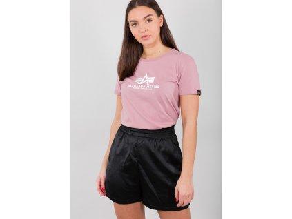 Alpha Industries New Basic T Wmn Silver pink dámske tričko