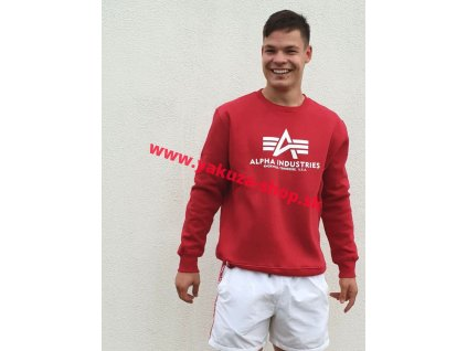 Alpha Industries mikina Basic Sweater rbf red