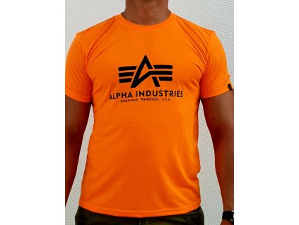 Alpha Industries Basic T Shirt tričko neon orange tričko pánske