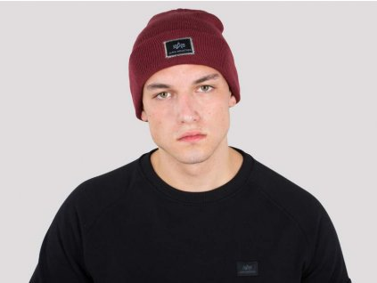 Alpha Industries X Fit Beanie čiapka Burgundy