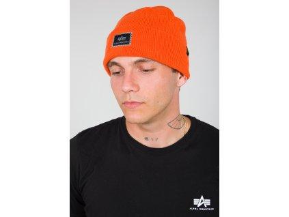 Alpha Industries X Fit Beanie čiapka flame orange