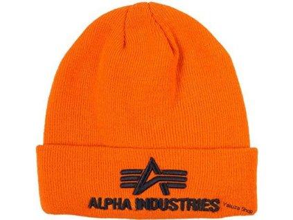 Alpha Industries 3D Beanie orange