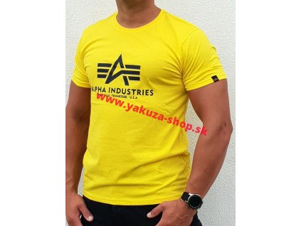 Alpha Industries Basic T Shirt Empire Yellow tričko pánske a