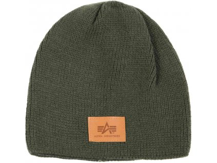Alpha Industries Knit Beanie čiapka dark green