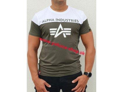Alpha Industries CB T dark olive tričko pánske a