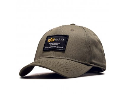 Alpha Industries Crew Cap šiltovka dark green a