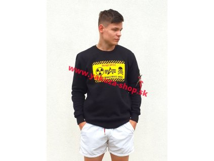 Alpha Industries mikina RADIOACTIVE Sweater black