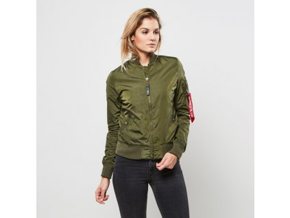 Alpha Industries dámska bunda MA-1 TT Dark Green