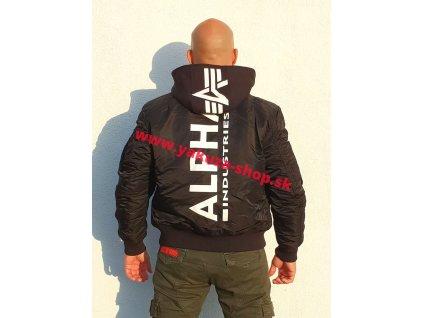 Alpha Industries zimná bunda MA 1 ZH BACK PRINT black white f g