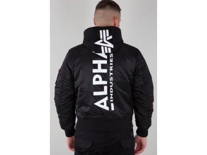 Alpha Industries zimná bunda MA 1 ZH BACK PRINT black white b