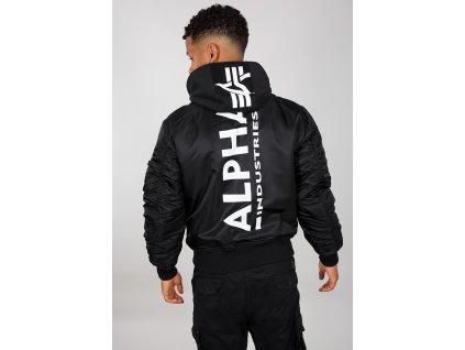 Alpha Industries zimná bunda MA 1 ZH BACK PRINT black white