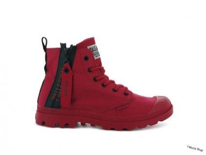 Palladium módne topánky PAMPA UNZIPPED RED SALSA