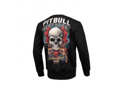 Pitbull West Coast mikina crew SANTA MUERTE black