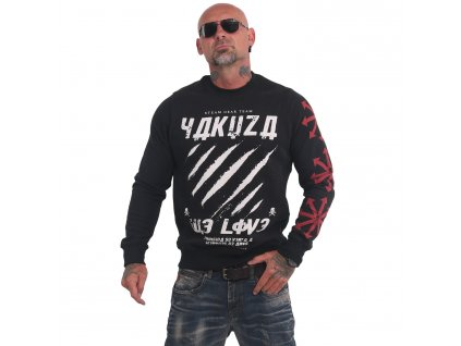 Yakuza WE LOVE mikina pánska PB 16010 black