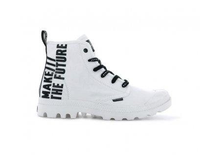 Palladium módne topánky PAMPA HI FUTURE WHITE