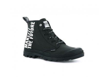 Palladium módne topánky PAMPA HI FUTURE BLACK BLACK a