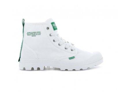 Palladium módne topánky PAMPA HI DARE SAFETY WHITE