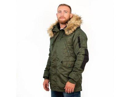 PitBull West Coast ALDER OLIVE zimná bunda pánska