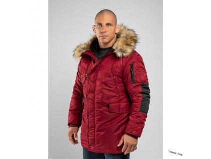 ALDER burgundy zimná bunda pánska A