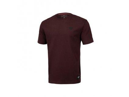 PitBull West Coast tričko pánske REGULAR FIT 210 SMALL LOGO burgundy