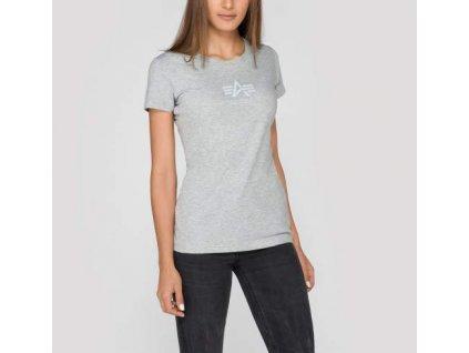 Alpha Industries Basic T Wmn grey heather tričko dámske