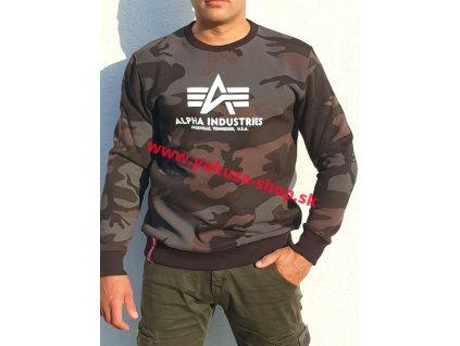 Alpha Industries mikina Basic Sweater black camo