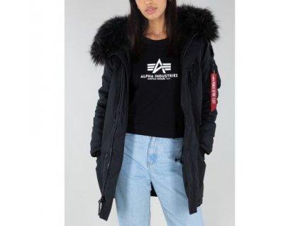 Alpha Industries Polar Jacket Wmn dámska zimná bunda all black
