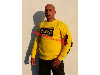 Alpha Industries mikina RADIOACTIVE Sweater empire yellow