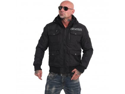Yakuza zimná bunda pánska HORNED WINTER JACKET WJB 16056 black