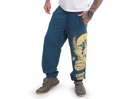 Yakuza HATING CLOWN tepláky pánske JOB 17049 mallard blue