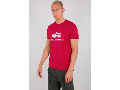 Alpha Industries Basic T Shirt RBF Red tričko pánske