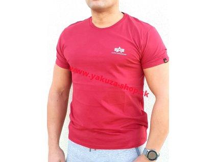 Alpha Industries Basic T Small logo RBF red tričko pánske