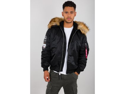 Alpha Industries zimná bunda MA 1 HOODED ARCTIC black
