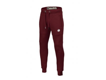 PitBull West Coast tepláky SMALL LOGO burgundy