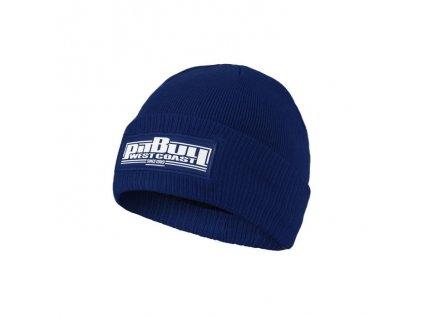 Pitbull West Coast zimná čiapka pletená ONE TONE BOXING royal blue