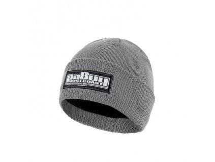 Pitbull West Coast zimná pletená čiapka ONE TONE BOXING grey
