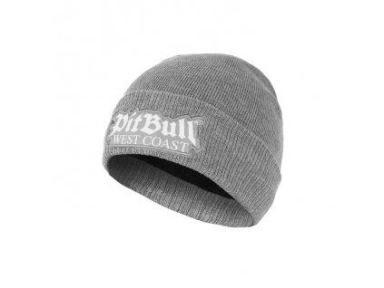 Pitbull West Coast zimná pletená čiapka ONE TONE OLD LOGO grey