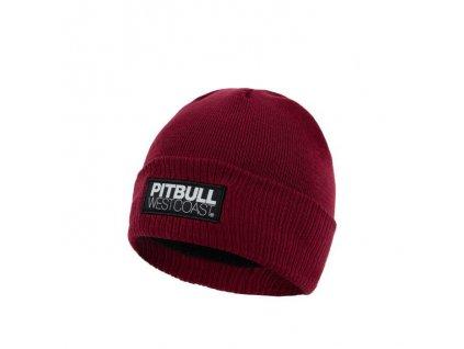 Pitbull West Coast zimná pletená čiapka TNT burgundy
